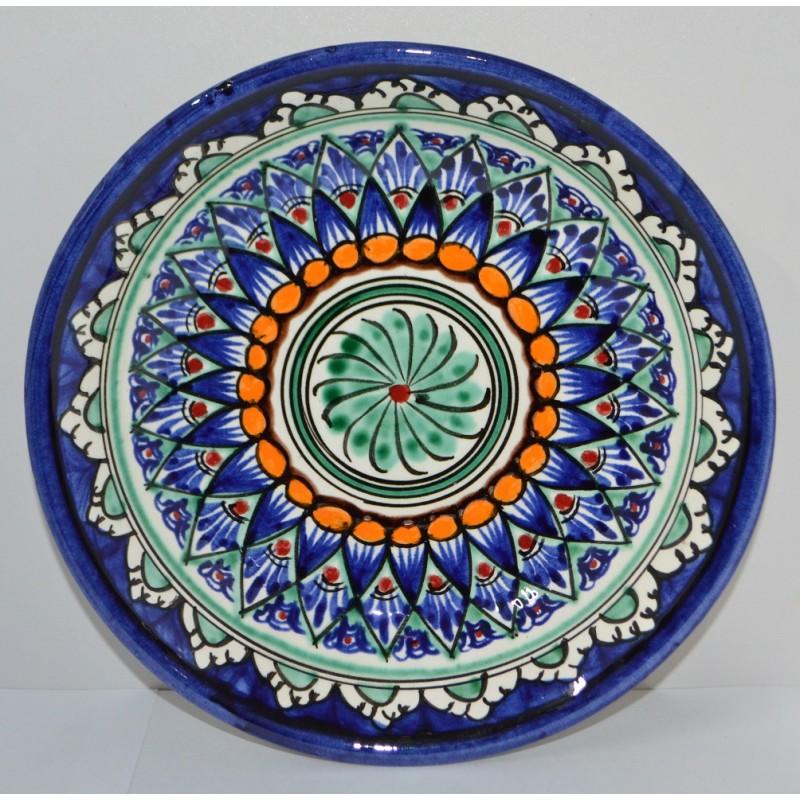 Тарелка Накша синяя глубокая 19 см